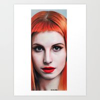 hayley williams Art Prints featuring Hayley Williams Drawing by Luca Leona