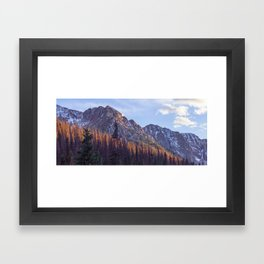 Dusk in Chicago Basin Framed Art Print