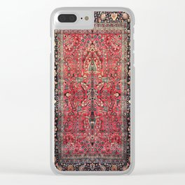 Antique Persian Red Rug Clear iPhone Case