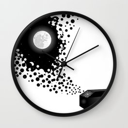 Night Sky Bubbles in a Negative Space Wall Clock