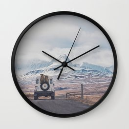 NEVER STOP EXPLORING ICELAND Wall Clock
