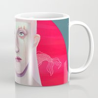 koi Mugs featuring Koi by Josh Merrick
