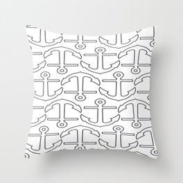 Nautical Love with Anchors Throw Pillow