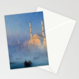 Constantinople (Istanbul) Süleymaniye Mosque in Fog by Ivan Aivazovsky Stationery Cards