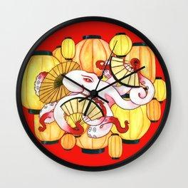 Geisha Octopus Wall Clock