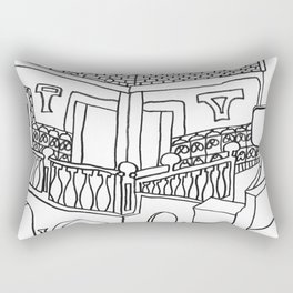 Beautiful Mediterranean Rooftop Escape Rectangular Pillow