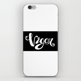 VIGOR_word iPhone Skin