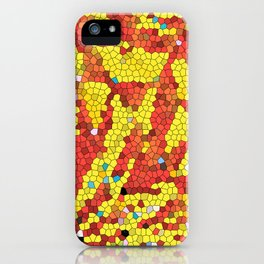 Yellow and red abstract iPhone Case