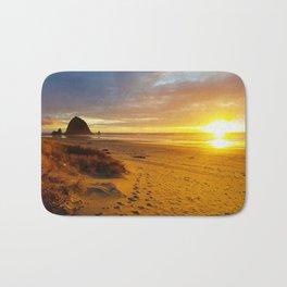 Cannon Beach Oregon at Sunset Haystack Rock Bath Mat