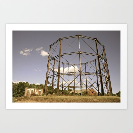 Gasometer Beauty Art Print