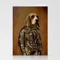beagle Stationery Cards featuring Beagle by Durro