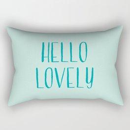 Hello Lovely Rectangular Pillow