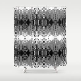 Laced rows of abstract city skyline Shower Curtain