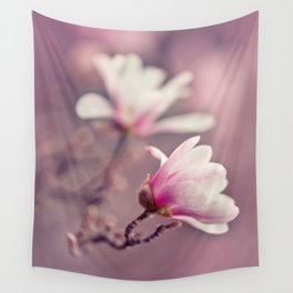 Light Pink Magnolia Wall Tapestry