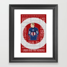 The First Avenger Framed Art Print