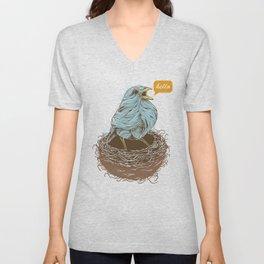 Twisty Bird Unisex V-Neck
