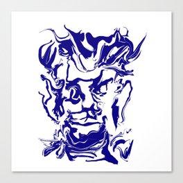 face12 blue Canvas Print