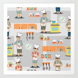 Young Chef Art Print
