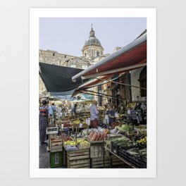 Going to the Market Art Print