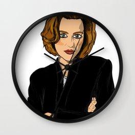 Dana Scully- Fan Art Wall Clock