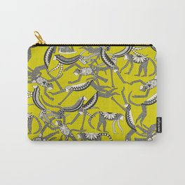monkey chartreuse Carry-All Pouch