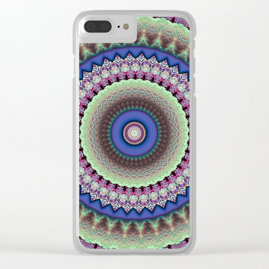 Girly Mandala Clear iPhone Case