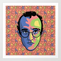 keith haring Art Prints featuring Haring by guissëpi