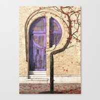 art nouveau Canvas Prints featuring Nouveau by Cynthia Decker