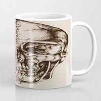 skeleton Mugs featuring Skeleton by ViviRajski