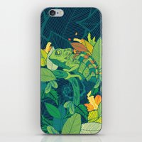 chameleon iPhone & iPod Skins featuring Chameleon by Arcturus
