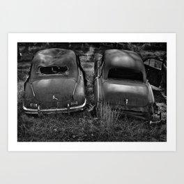 Junkyard Cars 1 Art Print