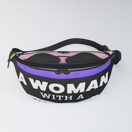 Woman with Pickleball Paddle Funny Gift Fanny Pack