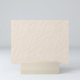 Cavern Clay SW 7701 Thin Pinstripe Angled Lines on Creamy Off White SW7012 Mini Art Print