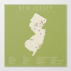 New Jersey Golf Courses Canvas Print