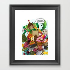 Chestnut Katamari Framed Art Print