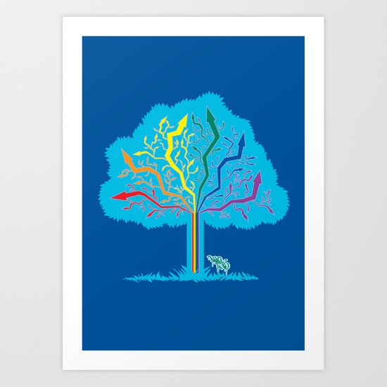 Arrow Tree Art Print
