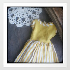 Yellow Dress TTV Art Print
