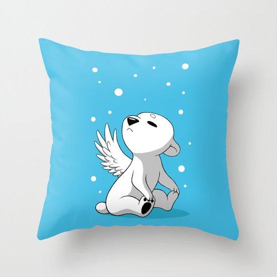 Polar Cub 2 Throw Pillow