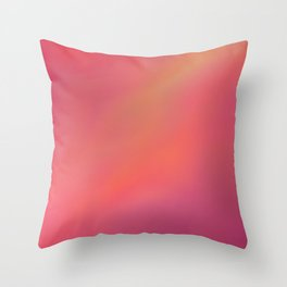 Red Blurred Throw Pillow
