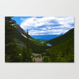 Looking over lower Geraldine Lakes in Jasper National Park, Canada Canvas Print