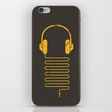 Gold Headphones iPhone & iPod Skin