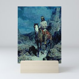 """""""Indian Scout"""" Painting by Frank Tenney Johnson Mini Art Print"""