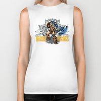 nordic Biker Tanks featuring Nordic Vikings by TsHirtZmaNia