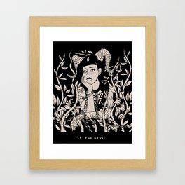 15. THE DEVIL Framed Art Print