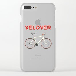 VeLover – Racer – June 12th – 200th Birthday of the Bicycle Clear iPhone Case