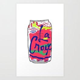 passionfruit La Croix or death Art Print