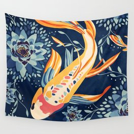 The Lotus Pond Wall Tapestry