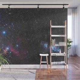 Orion's belt in the winter sky, stars Alnitak, Alnilam, Mintaka, Horsehead Nebula, Orion Nebula Wall Mural