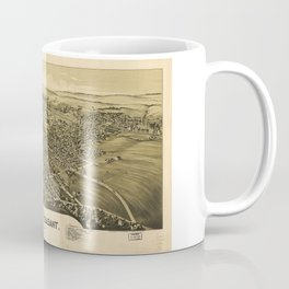 Aerial View of Mount Pleasant, Pennsylvania (1900) Coffee Mug