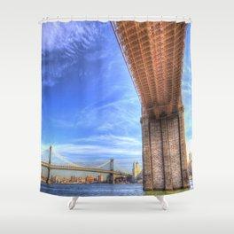 Brooklyn And Manhattan Bridges Shower Curtain